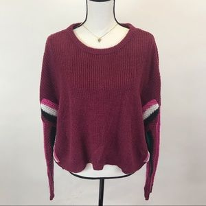 NWT Ultra Flirt Oversized slouchy crop sweater M